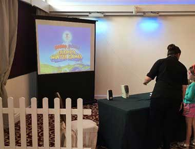 Wii Games in Giant Screen