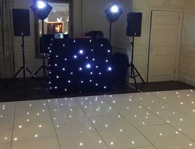 White dancefloor at a party