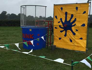 Dunk Tank in a field