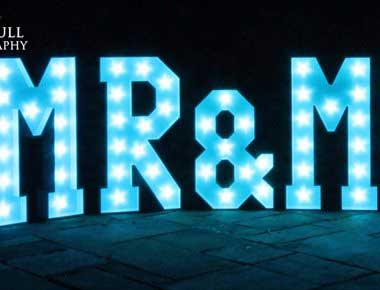 Mr and Mrs Giant Letters
