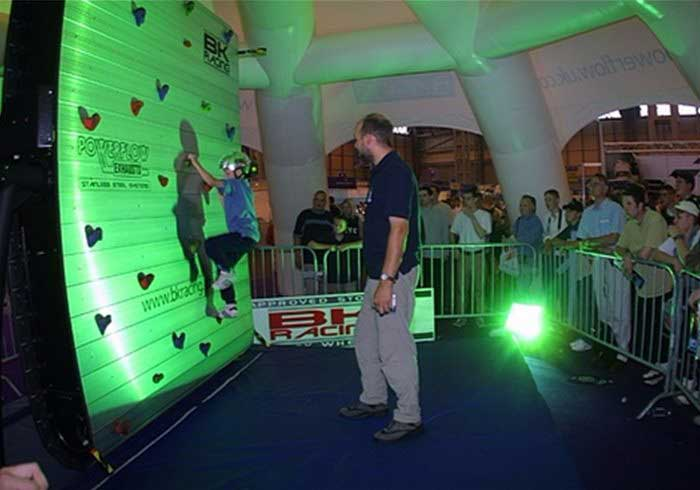 Mechanical Climbing Wall at an event