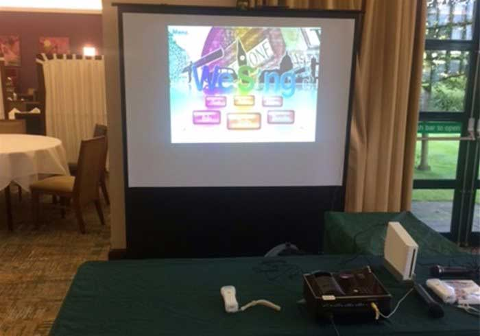 Wii games on large screens