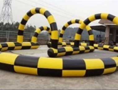 Track for Zorb balls to go around