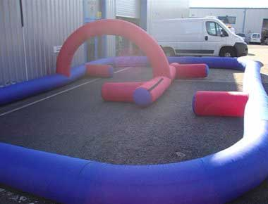 Inflatable Track to hire for events