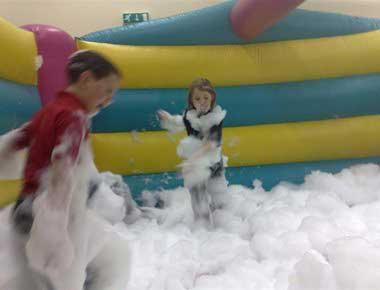 Bouncy Castle and Foam Cannon