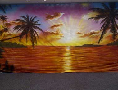Beach Party Theme Backdrops